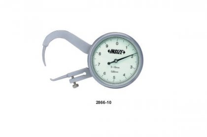THICKNESS GAUGE WITH POINTED TIPS